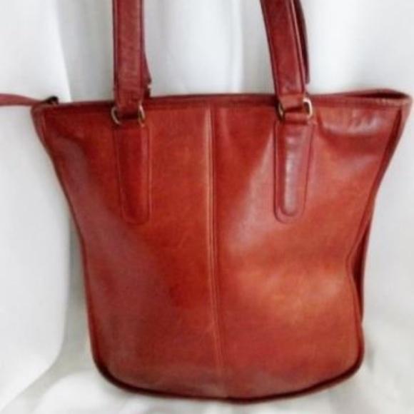 77c214f2f3 Coach Handbags - Vintage COACH NEW YORK 3730 Leather Shoulder Tote
